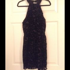 *NWT* Chic Velvet Patterned Halter Dress (L) *NWT* Chic Velvet Patterned Halter Dress (L). Brand new with tags. 100% polyester. Paper Crane Dresses