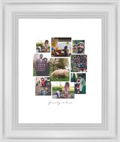 Gallery Collage of Nine Framed Print, White, Classic, None, White, Single piece, 8 x 10 inches