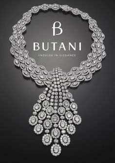 Your personal style is often reflected through the jewellery you wear. Step into the limelight and illuminate in royal opulence #Butani #ButaniJewellery #Diamonds #Necklace