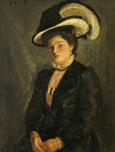 The Artist's Sister, Deborah, c.1911 by Mark Gertler (British 1891‑1939)