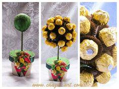 Ferraro Rocher chocolate tree. Rocher Chocolate, Chocolate Tree, Chocolate Flowers, Chocolate Bouquet, Candy Bouquet, Muffin, Fruit, Breakfast, Handmade