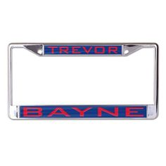 trevor bayne wincraft inlaid metal license plate frame 2499