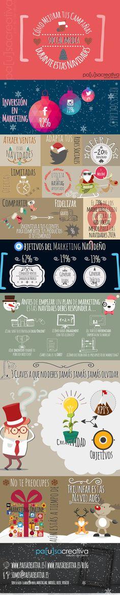 Cómo mejorar tus campañas en Redes Sociales en Navidad #infografia #marketing