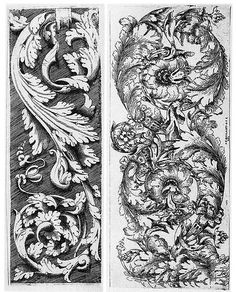 ornament of a german renaissance Karl Blossfeldt, Acanthus, Arabesque, Renaissance, German, Victorian, Ornaments, Tattoos, Illustration
