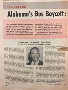 In 1955, Rosa Parks (an African American) refused to move from her seat when she was told to, resulting in her arrest due to the segregationist bus laws. This sparked the Montgomery Bus Boycott in which frustrated Blacks came together to propose three definitive demands before they resumed riding the busses. For months the busses ran empty due to an alternate transportation system and the unanimously obstinate protesters, ultimately leading to the retraction of the bus laws by the…