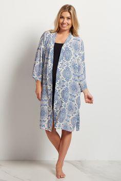 Blue Bohemian Dressing Robe