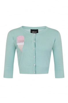 Collectif Mainline Lucy Ice-cream Cardigan