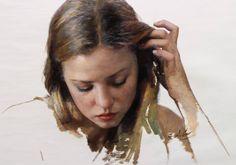 Aesthetic Painting, Aesthetic Art, Cesar Santos, Hyperrealism Paintings, Portrait Art, Portraits, Portrait Paintings, Classic Paintings, Realism Art