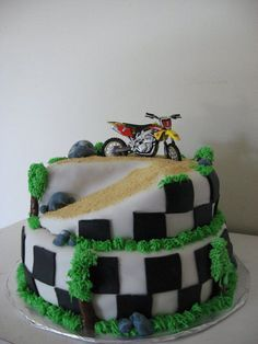 dirtbike birthday cake - Google Search
