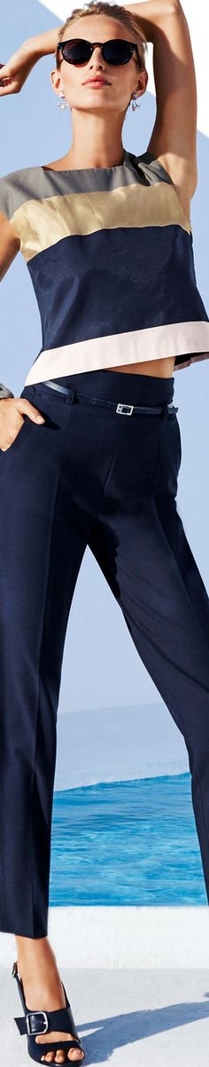 MADELEINE Blue Trousers