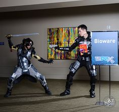Commander Shepard protecting his Blast O's from Kai Leng - Mass Effect - PAX 2012 - Photo by N8Zim Photography