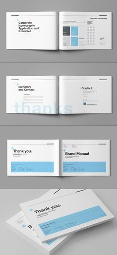 Brand Manual And Identity Template Corporate Design Brochure - Brochure template for pages