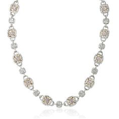 Diamond 18k Two Tone Gold Necklace -  rose gold diamond necklace, designed in Italy