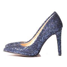 GLITTER Stiletto shoes - romanian designers SHOP ONLINE Stiletto Shoes, Pumps, Heels, Designers, Glitter, Blue, Shopping, Fashion, Heel