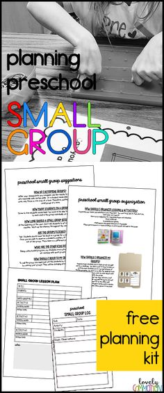 Planning Preschool Small Group: Ideas, tips and a Free Planning Kit!