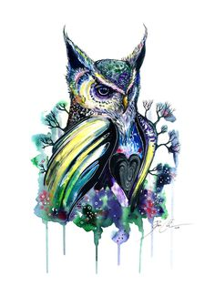 """owl"" Art Print by PeeGeeArts 