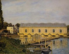 The Machine at Marly, Oil On Canvas by Alfred Sisley (1839-1899, France)