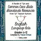 Common Core English Language Arts: Free Back-to-School eBook Grades 6-12  TpT sellers have been busy this summer! Implementation of Common Core Sta...