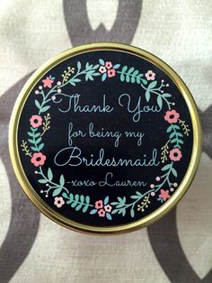 Thank You For Being My Bridesmaid Candle, Mason Jar, Soy, Customized, handmade Bridesmaid Candles, Be My Bridesmaid, When I Get Married, I Got Married, Matron Of Honour, Maid Of Honor, Tropical Mixed Drinks, Apple Bourbon, Its Christmas Eve