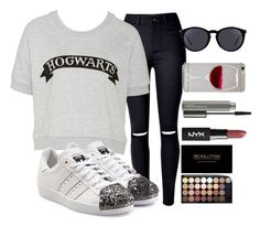 """""""🎀👌"""" by gaellerached ❤ liked on Polyvore featuring adidas Originals, Yves Saint Laurent and MAC Cosmetics"""