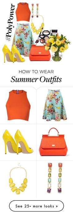 """Power-Outfit for the summer"" by romi-kella on Polyvore featuring Blumarine, Gianvito Rossi, INC International Concepts, Sydney-Davies, Laura Geller, Dolce&Gabbana, Ippolita, Diane James and PolyPower"