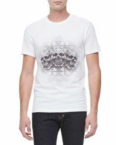 Alexander McQueen - Three-Skull Graphic Tee, White