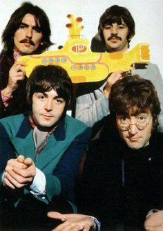 Beatles with Yellow Submarine