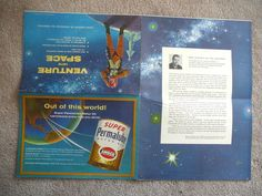 AMERICAN OIL AMOCO - 1958 Vintage VENTURE INTO SPACE - SPACE MYSTERIES POSTER VG | eBay