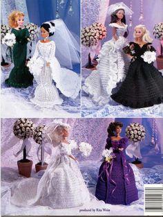 Wedding Day Fashion Doll and Barbie Crochet Dress Patterns