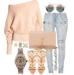Father's Day Fly DETAILS: Sweater #Hm Frames #Dior Jeans #Balmain Purse #Ysl Shoes #Giuseppezanotti Watch #Rolex #Styledbyfashionkill21