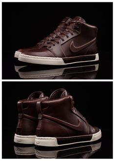 Nike Air Royal Mid VT: Brown – Ian Bettany – Join the world of pin Sneakers Fashion, Fashion Shoes, Mens Fashion, Brown Fashion, Nike Heels, Sneakers Nike, Running Sneakers, Tenis Nike Casual, Rocker