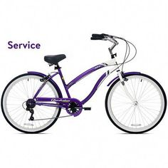e7f95f6184c Womens Beach Cruiser Bike Vintage Bicycle City Road Ladies 7 Speed Purple  for sale online