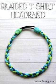 Tutorial: No-sew braided t-shirt headband