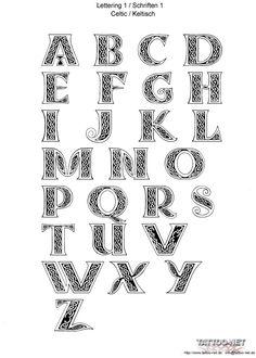 Image detail for -Celtic Letters ersheet1 | Celtic Letters | Home | Tattoo Designs