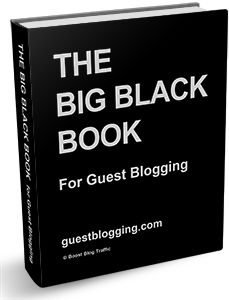 Big Black Book. Contact information for top blogs that accept guest posts.