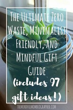 This is a good list of gifts that help you think outside the box. I personally love giving experiences as gifts and will probably continue this trend. #wastefreeliving