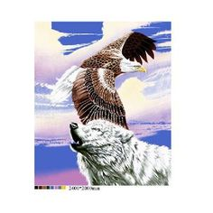 Free Shipping - New Very Soft Plush WOLF HOWLING / EAGLE FLYING Blanket 79 x 94 fits Queen /King