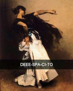 Spanish Dancer - John Singer Sargent (1881) #seiquadripotesseroparlare