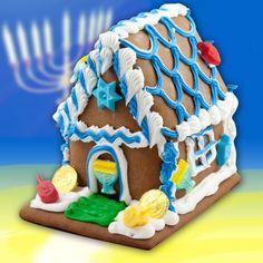 Chanukah Gingerbread House - 3 lb - by Best Cookies Hanukkah Diy, Jewish Hanukkah, Hanukkah Decorations, Christmas Gift Decorations, Christmas Hanukkah, Hannukah, Happy Hanukkah, Christmas Cookies, Holiday Crafts
