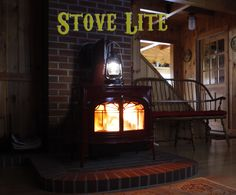 Stove Lite Pro running on a Vermont Castings Wood Stove. The Stove Lite Pro is a Thermoelectric Generator Lantern that emits light, charges USB devices and acts as a visual indicator of how well your stove is doing. If the light is dim, its time to throw wood on the fire. When the Stove Lite Pros battery pack is fully charged it can run for up to 8 hours off the stove.