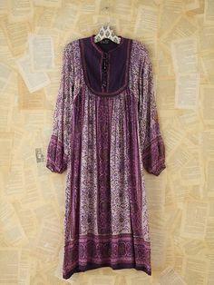 Free People Vintage Printed Indian Dress