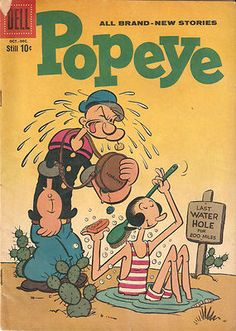 1959 Original Vintage Comic Book DELL BRAND POPEYE #50 Cartoon Character Comics