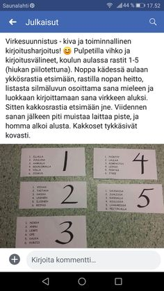 Kirjoitus suunnistus Daily Five, Kindergarten, Language, Classroom, English, Teaching, Writing, Education, School
