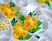 Original Paper Quilling Wall Art I love by QuillingbyLarisa