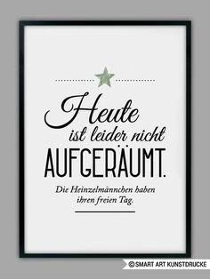 """""""HEINZELMÄNNCHEN / AUFGERÄUMT"""" Kunstdruck von Smart-Art Kunstdrucke auf DaWanda.com"""