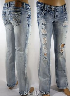 Tore up!  Amethyst Jeans $36.99. bought these today down another size