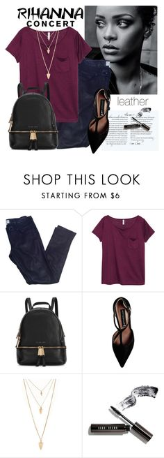 """""""Rihanna Concert!!"""" by sweet-fashionista ❤ liked on Polyvore featuring Vanessa Bruno Athé, H&M, Michael Kors, Steve Madden, Forever 21, Bobbi Brown Cosmetics, Leather and RihannaConcert"""
