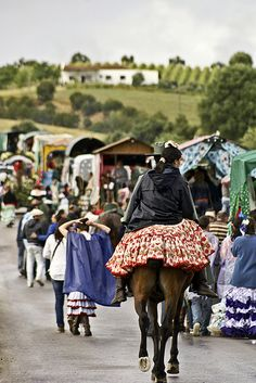 Procession - Romeria Prado del Rey - Sierra de Cadiz - Mai 2012