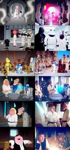 cool star wars photos family guy compared to movie