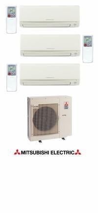MXZ3B30NA-MSZGE06NA-MSZGE09NA-MSZGE18NA - 33,000 Btu 17.5 Seer Mitsubishi Tri-Zone Mini Split - 6K-9K-18K - Heat Pump System
